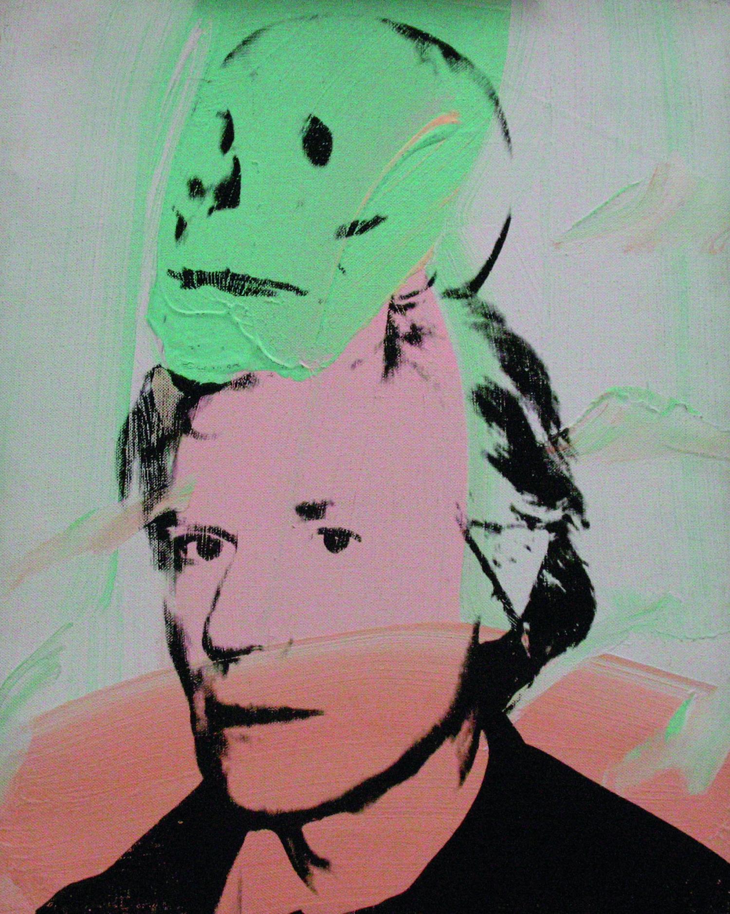 Andy Warhol ... Andy Warhol Self Portrait With Skull
