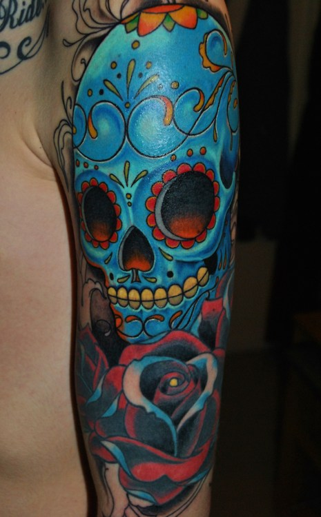 mexican skull tattoo skullsproject. Black Bedroom Furniture Sets. Home Design Ideas