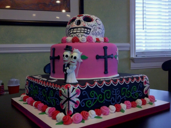 Day Of The Dead Wedding Gifts: The Day Of The Dead Wedding Cakes