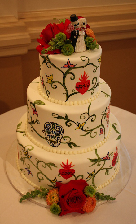 day of the dead cake the day of the dead wedding cakes skullsproject 3323