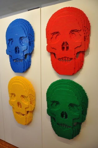 Colorful Skulls - Nathan Sawaya