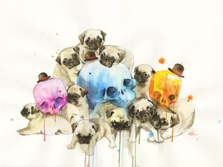 puppies_and_skulls_by_lora_zombie-d62pt91