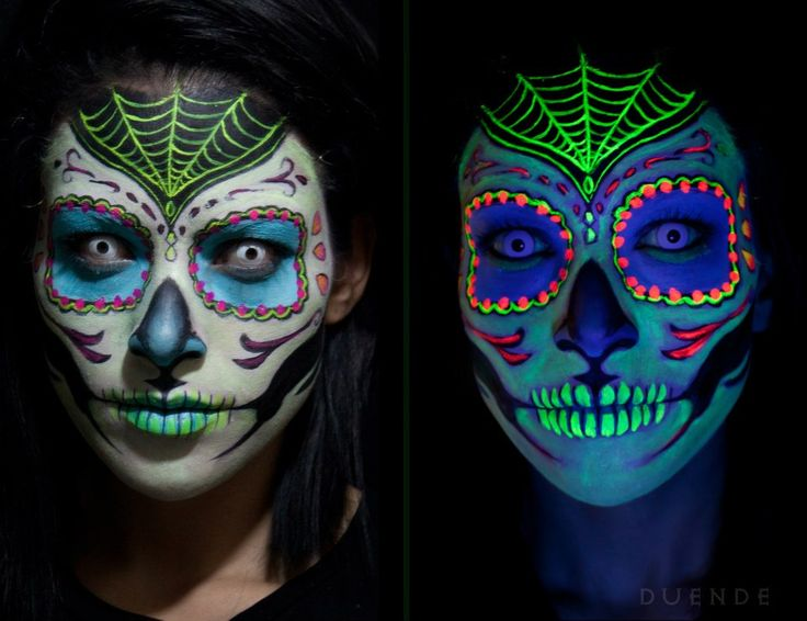 uv and black light sugar skull designs skullsproject. Black Bedroom Furniture Sets. Home Design Ideas