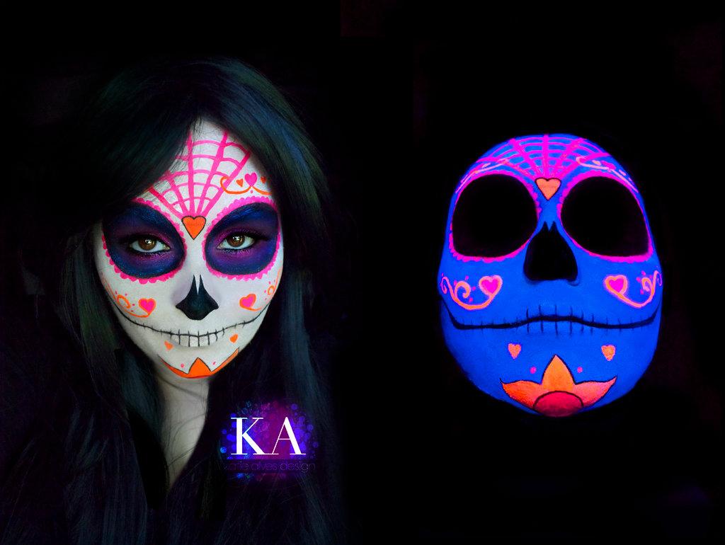 Best Wallpaper Home Screen Skull - black_light_sugar_skull_with_tutorial_by_katiealves-d7zmymv  Best Photo Reference_626850.jpg
