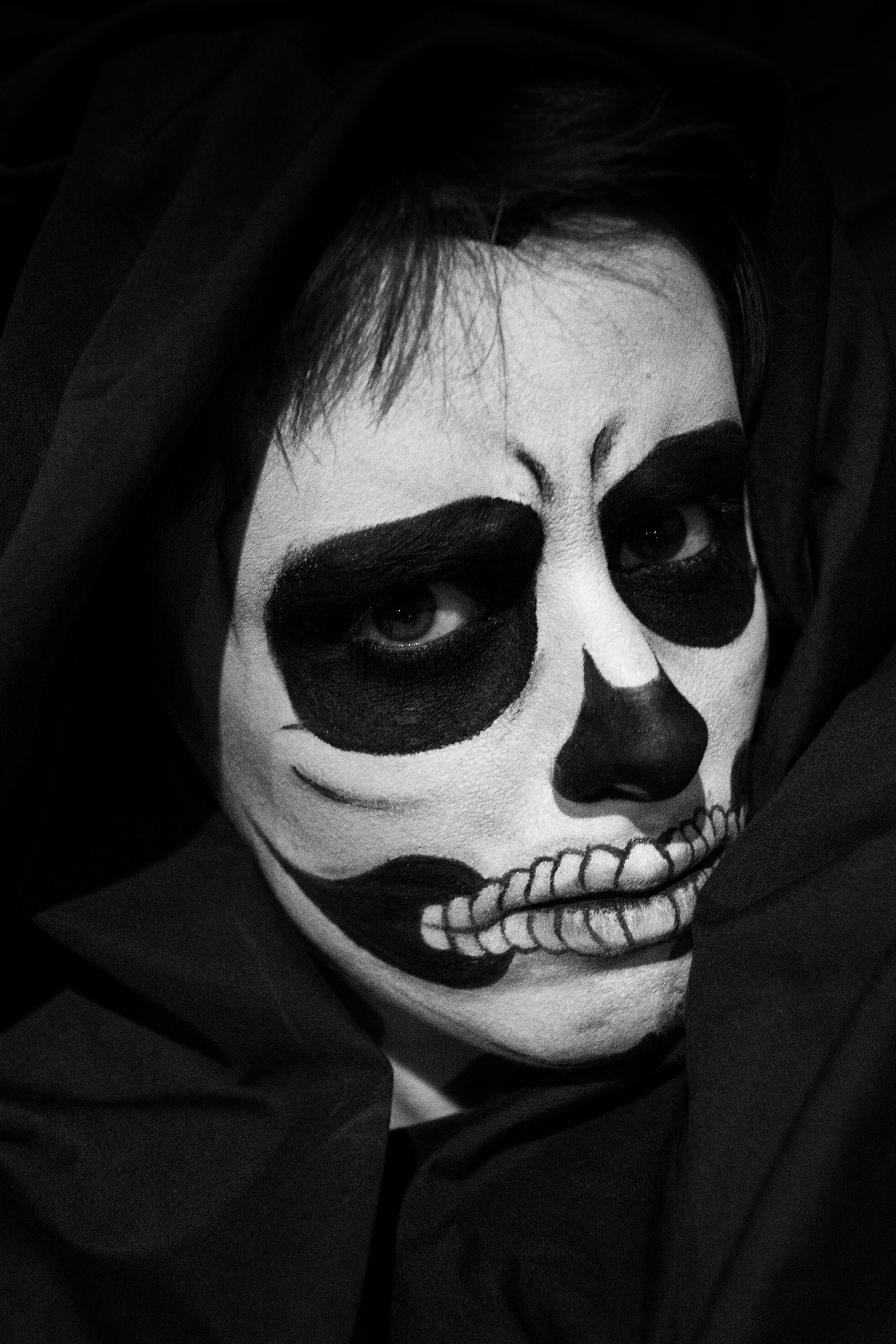 Black and white skull makeup continued skullsproject